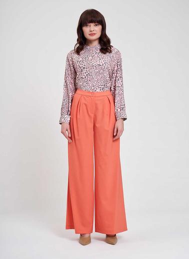Mizalle Mızalle Pileli Premium Pantolon  Somon